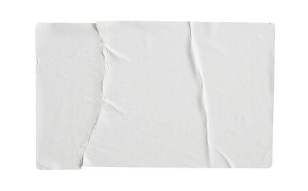 Photo pour Torn paper sticker label isolated on white background - image libre de droit