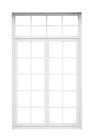 Photo for Real vintage house window frame isolated on white background - Royalty Free Image
