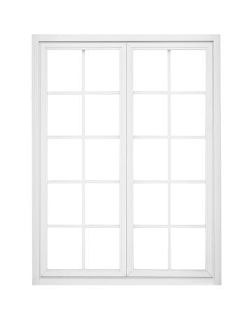 Photo pour Real vintage house window frame isolated on white background - image libre de droit