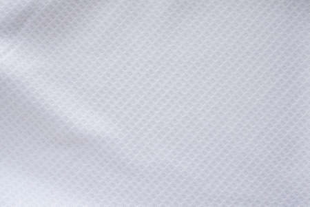Photo for White sports clothing fabric football shirt jersey texture abstract background - Royalty Free Image