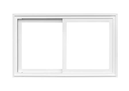 Photo pour Real modern house window frame isolated on white background - image libre de droit
