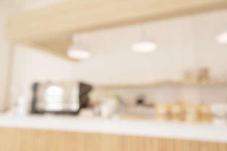 Photo pour Coffee shop or cafe restaurant interior blur for background - image libre de droit