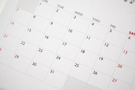 Photo pour calendar page date background business planning appointment meeting concept - image libre de droit