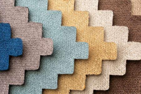 Photo pour fabric color samples texture background - image libre de droit