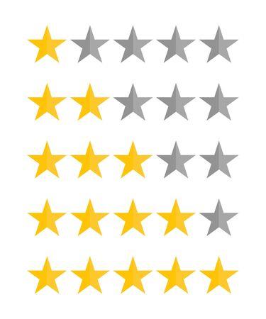 Illustration for Five stars rating vector illustration. - Royalty Free Image