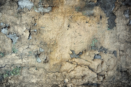 Old damaged grunge wall background or texture