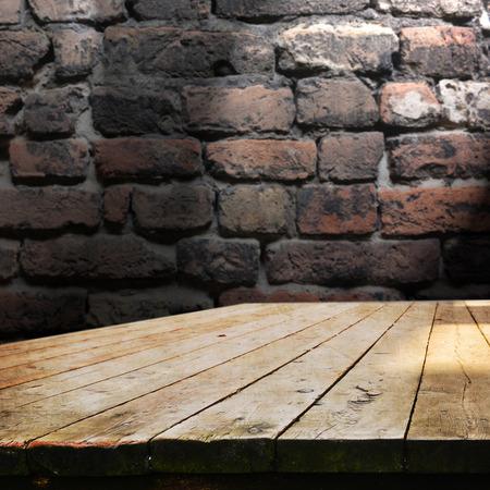 Photo pour empty table for product display ,onatges - image libre de droit