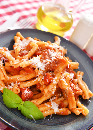Photo for Italian style pasta with tomato sauce - Royalty Free Image