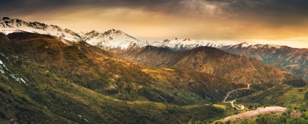 The Andes Mountains in Chile