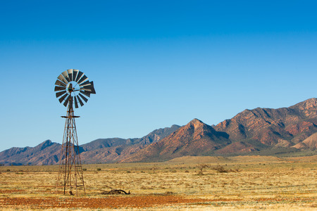 Windmill in the Flinders Ranges, South Australia