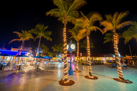 Time Square Estero Island Downtown Fort Myers Beach Florida USA
