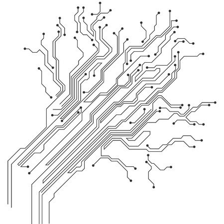 Illustration pour Circuit board icon. - image libre de droit