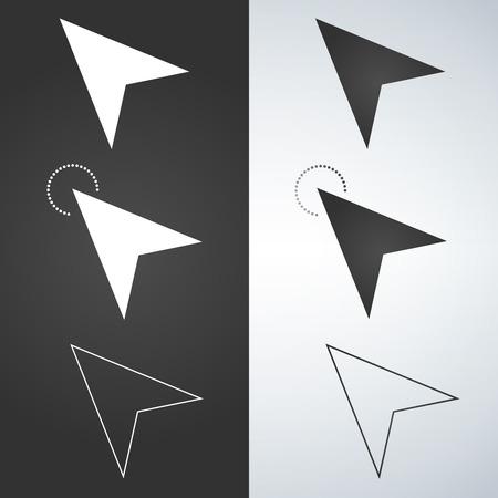 Arrow Cursors Symbol Icons Set. Vector illustration.