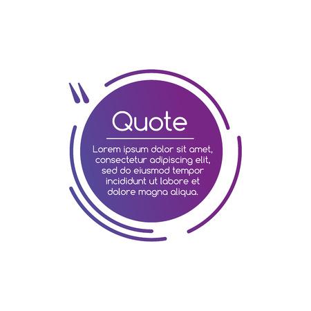 Illustration pour Purple Vector circle line Quotation Mark Speech illustration. Quote sign. Vector illustration isolated on white - image libre de droit