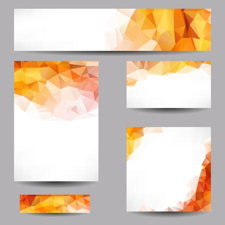 Ilustración de Set of templates with abstract geometrical triangles - Imagen libre de derechos