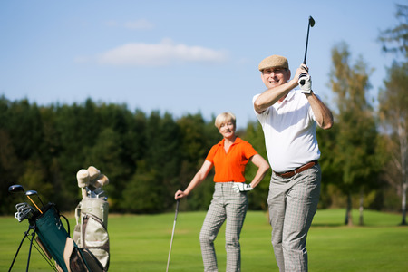 Golf training in summer