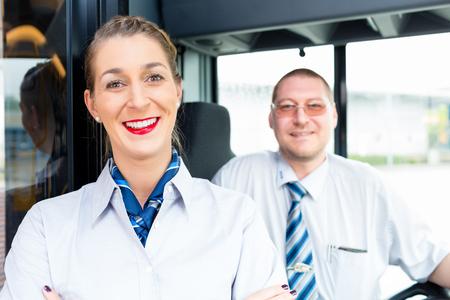 Foto de Bus or coach driver and tourist guide - Imagen libre de derechos