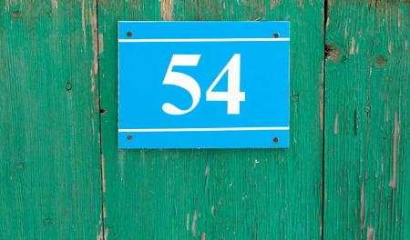 house number plaque with numbers
