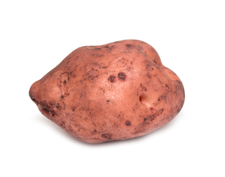 Red new potato tuber isolated on white background cutout