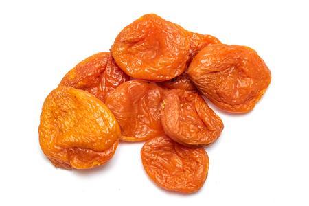 Photo pour Dried apricot dried apricots, close-up on a white background. - image libre de droit