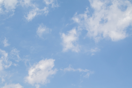Blue sky with white clouds. Clear summer day. Perfect desktop wallpaper.