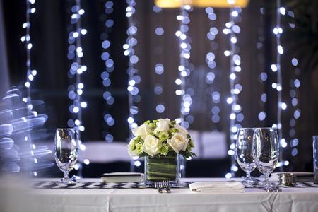 Foto de Table setting for an wedding reception or an event - Imagen libre de derechos