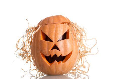 Foto de Halloween pumpkin with scary face. Jack O - Imagen libre de derechos