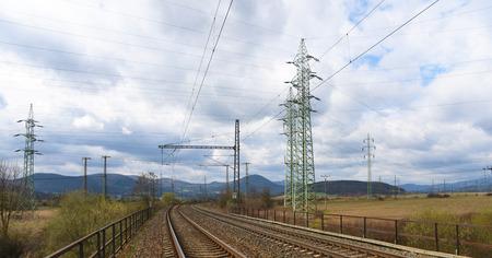 tracks near Prunerov in north of Bohemia