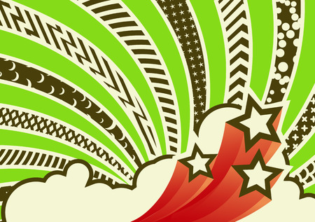 Illustration for Vector illustration - funky looking composition.  pattern background.   - Royalty Free Image