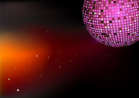 Vector illustration of shiny abstract party design