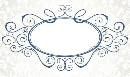 illustration of ornamental original vector design element for titling frame