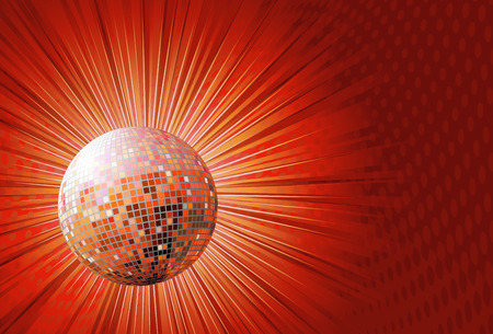 illustration of red shiny abstract party design