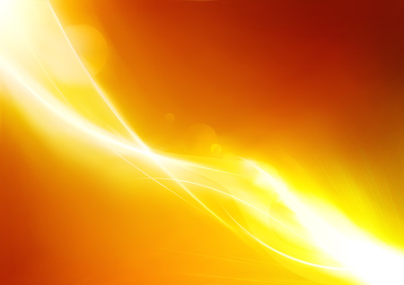 Vector illustration of futuristic orange abstract glowing background
