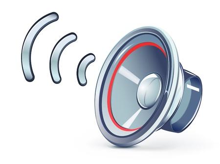 Vector illustration of glass transparently speaker icon