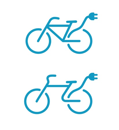 illustration of Simple Electric bicycle icon