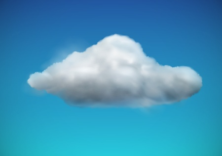 illustration of cool single weather icon -  cloud floats in the sky