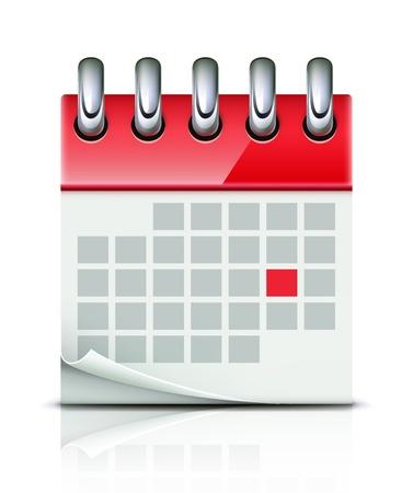 illustration of detailed beautiful calendar icon
