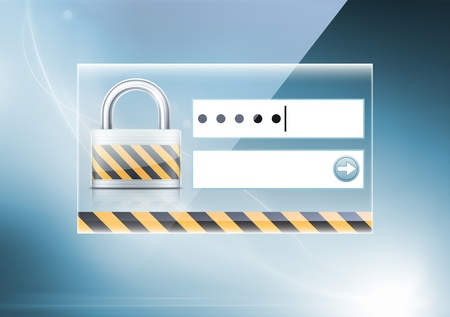 Vector illustration of soft colored abstract background with computer security concept