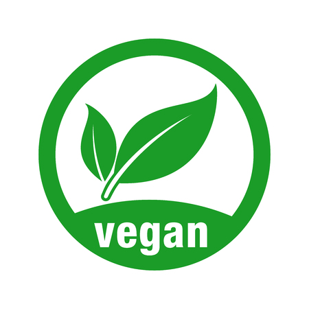 Illustration for icon for vegan food - Royalty Free Image