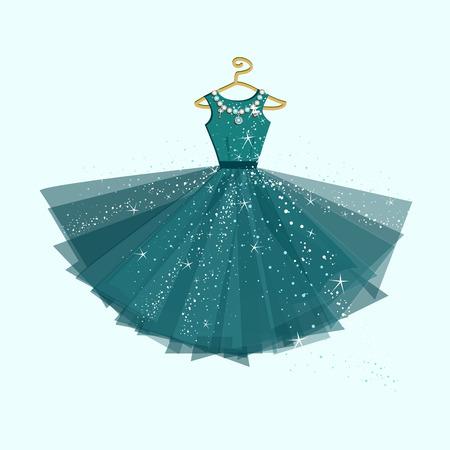 Ilustración de Party dress. Vector illustration - Imagen libre de derechos