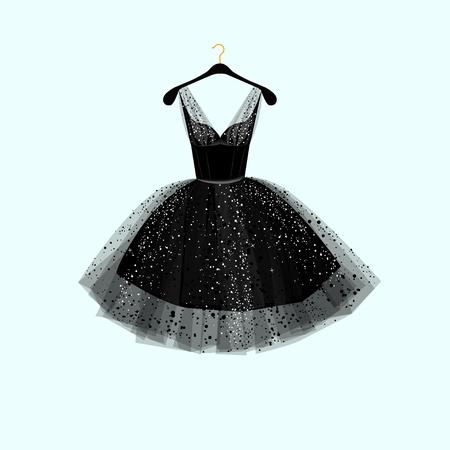 Ilustración de Little black dress. Vector illustration - Imagen libre de derechos