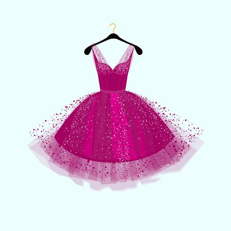 Ilustración de Purple Party dress illustration - Imagen libre de derechos