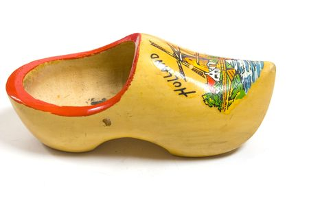 yellow wooden shoes from the netherlands