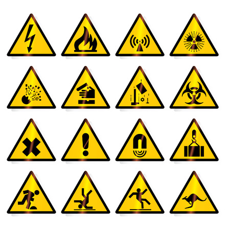 Danger, warning signs - vector format