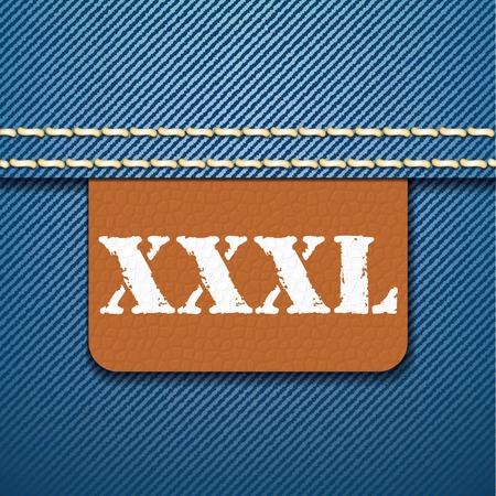 XXXL size clothing label - vector illustration