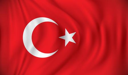 Illustration pour Flag of Turkey - vector illustration - image libre de droit
