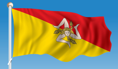 Flag of Sicily - vector illustration