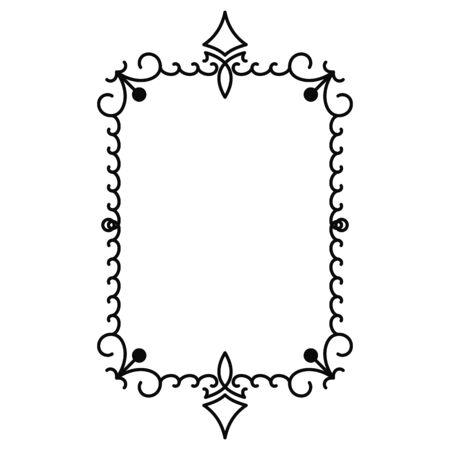 Illustration pour vector image, decorative ornamental frame, original design - image libre de droit