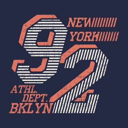 Illustration for New York typography, t-shirt vintage, design graphic, original design clothing - Royalty Free Image