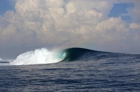 Heavy Ocean Surfing Wave